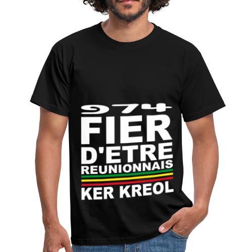 T-shirt Homme Fier d'etre Kreol - 974 Ker Kreol - T-shirt Homme