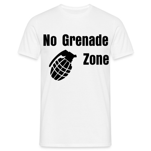 No Grenade Zone Shirt - Mannen T-shirt