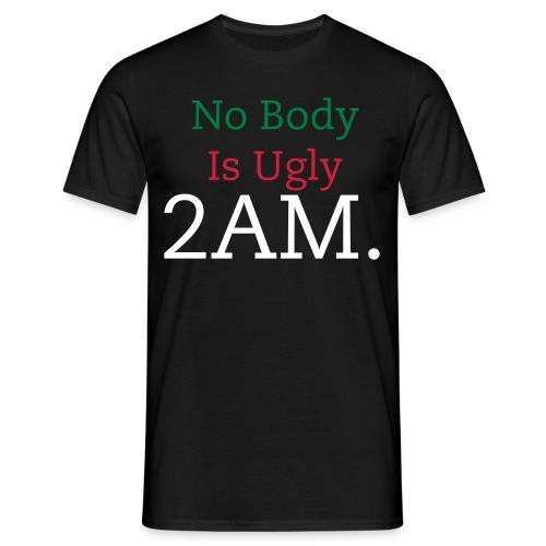 No body is Shirt - Mannen T-shirt