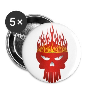 King skull Button millidesign - Buttons groß 56 mm