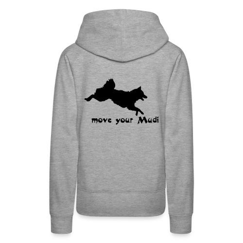 Move your Mudi Black grey back - Women's Premium Hoodie