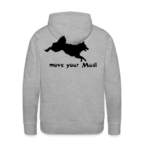 Move your Mudi black grey - Men's Premium Hoodie