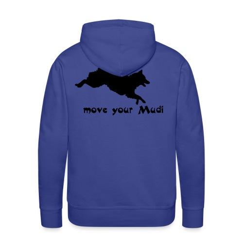 Move your Mudi black blue - Men's Premium Hoodie