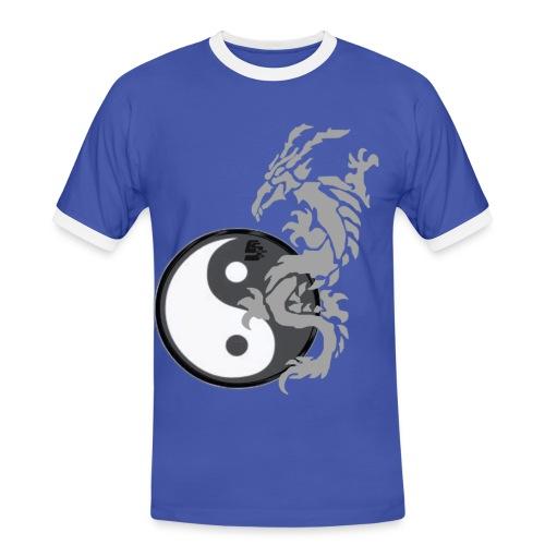 tshirt dragon tribal 001 gris - T-shirt contrasté Homme