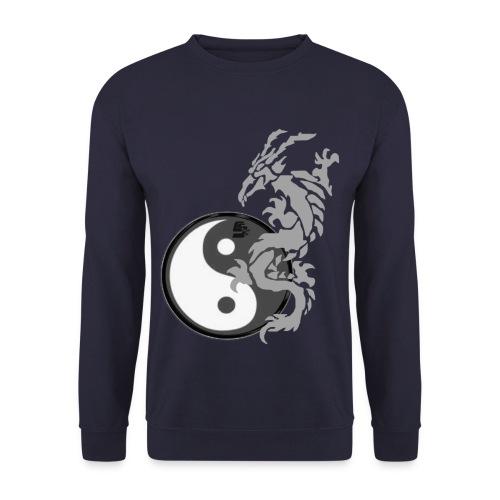 tshirt dragon tribal 001 gris - Sweat-shirt Homme