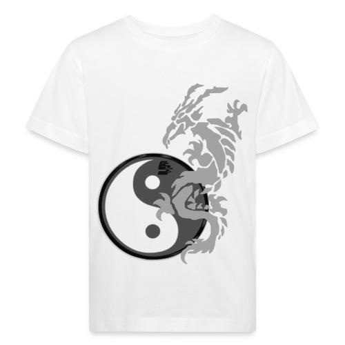 tshirt dragon tribal 001 gris - T-shirt bio Enfant