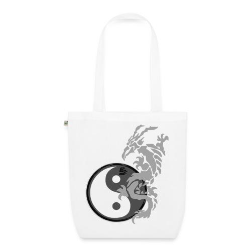 tshirt dragon tribal 001 gris - Sac en tissu biologique
