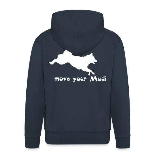 Move your Mudi White navy - Men's Premium Hooded Jacket