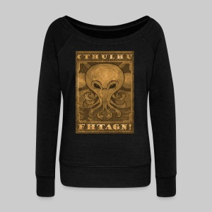 WPU: Cthulhu Fhtagn - Women's Boat Neck Long Sleeve Top