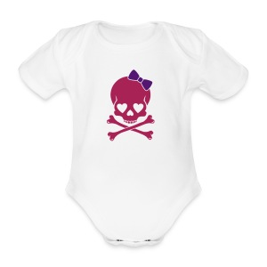 ROCK CHICK - Organic Short-sleeved Baby Bodysuit