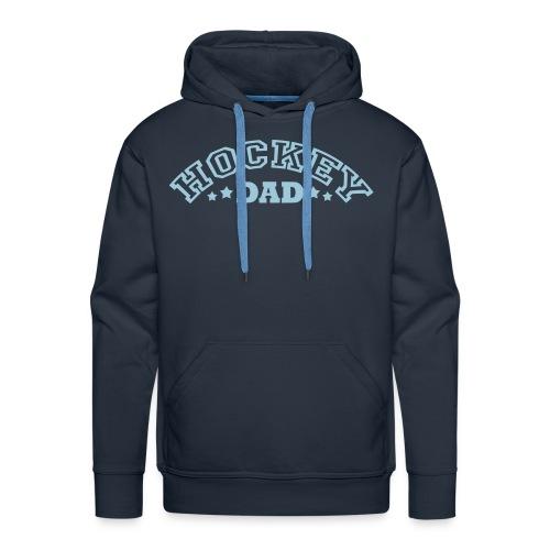 'Hockey Dad' Men's Hoodie (arched text) - Men's Premium Hoodie