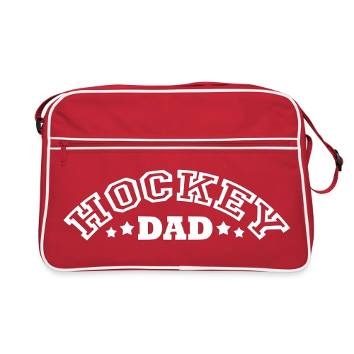 'Hockey Dad' Retro Bag (arched text) - Retro Bag