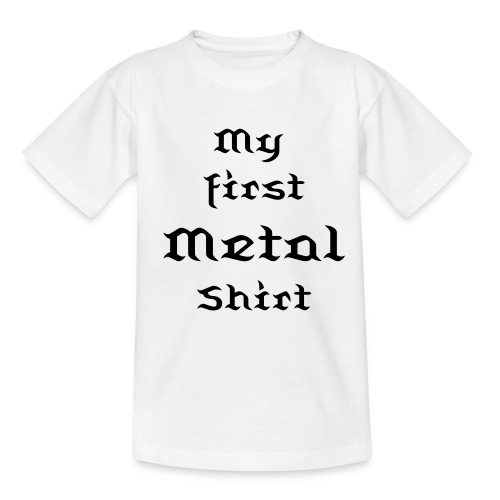 My first Metal Shirt weiß - Teenager T-Shirt