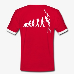 Humanoide Evolution - rot (men)  - Männer Kontrast-T-Shirt