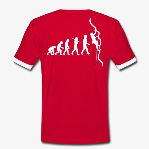 Humanoide Evolution - rot (men)  - Männer Kontrast-T-Shirt