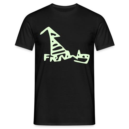 French Dog Men's Glow in the Dark Classic T-Shirt - Men's T-Shirt