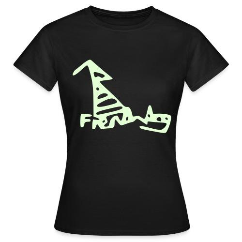 French Dog Women's Glow in the Dark Classic T-Shirt - Women's T-Shirt