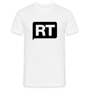RT - Retweet - Mannen T-shirt