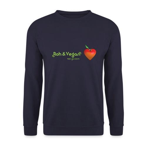 Roh & vegan von ganzem Herzen (Rohkost vegane Shirts) - Männer Pullover