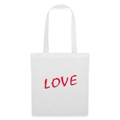 Shoppingbag wit Love - Tas van stof
