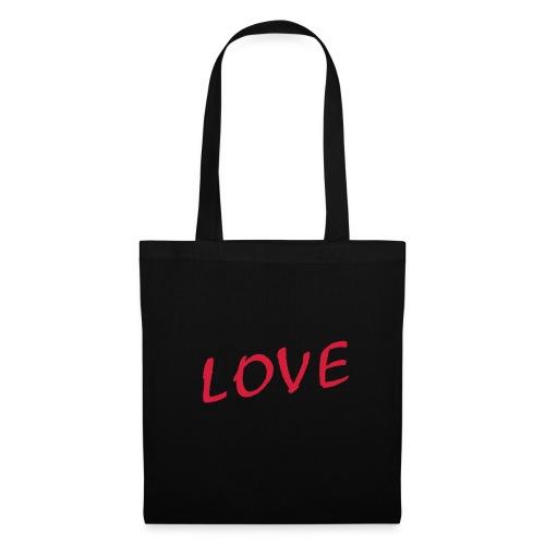 Shoopingbag zwart Love - Tas van stof