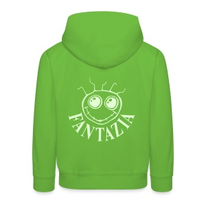 Fantazia Kids Hoodie with glow in the dark logos front and back - Kids' Premium Hoodie