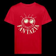 Shirts ~ Kids' Organic T-shirt ~ Fantazia Kids  T-shirt with glow in the dark logo