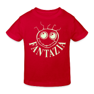 Shirts ~ Kids' Organic T-shirt ~ Fantazia Kids  T-shirt with glow in the dark logo