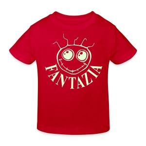 Fantazia Kids  T-shirt with glow in the dark logo - Kids' Organic T-shirt