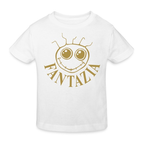 Fantazia Kids  T-shirt with Gold glitter logo - Kids' Organic T-shirt