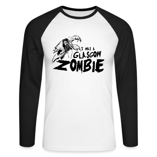 Glasgow Zombie - Men's Long Sleeve Baseball T-Shirt
