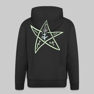 MJK3s: The Elder sign according to August Derleth description - Men's Premium Hooded Jacket