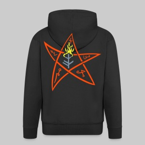 MJK: The Elder sign according to August Derleth description - Men's Premium Hooded Jacket