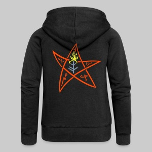 MJK: The Elder sign according to August Derleth description - Women's Premium Hooded Jacket