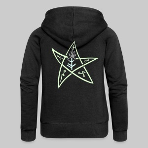 FJK3s: The Elder sign according to August Derleth description - Women's Premium Hooded Jacket