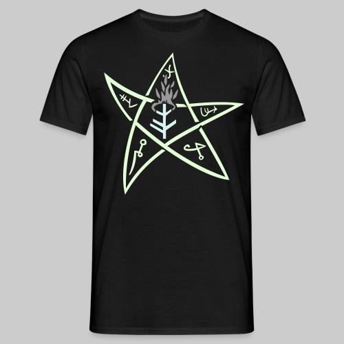 MTE3s: The Elder sign according to August Derleth description (glow in the dark) - Men's T-Shirt