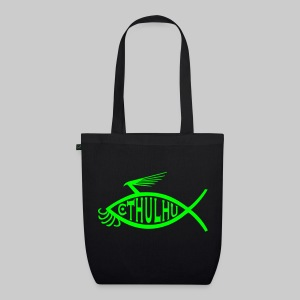 MSM1: Cthulhu-Fish-Emblem (monochrome) - EarthPositive Tote Bag