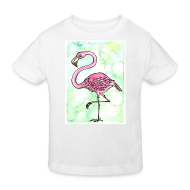 T-shirts ~ Organic børne shirt ~ Flamingo