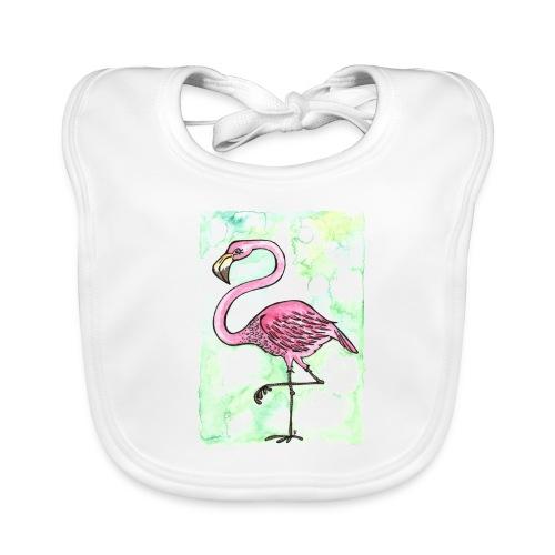 Flamingo - Baby økologisk hagesmæk