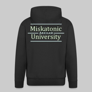 MJKv2: Miskatonic University - Arkham (glow in the dark) - Men's Premium Hooded Jacket