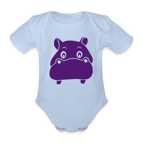 t-shirt hippo nilpferd nili flusspferd tier niedlich afrika - Baby Bio-Kurzarm-Body