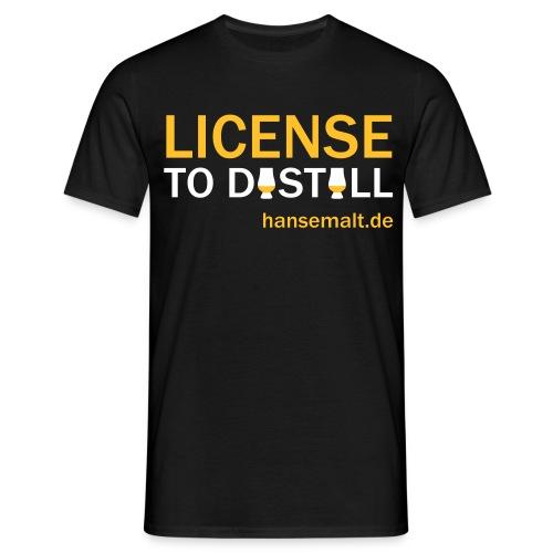 License to distill - Männer T-Shirt