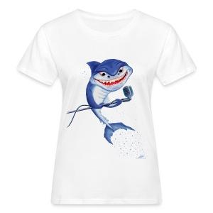 Singin' Shark Girl - Frauen Bio-T-Shirt