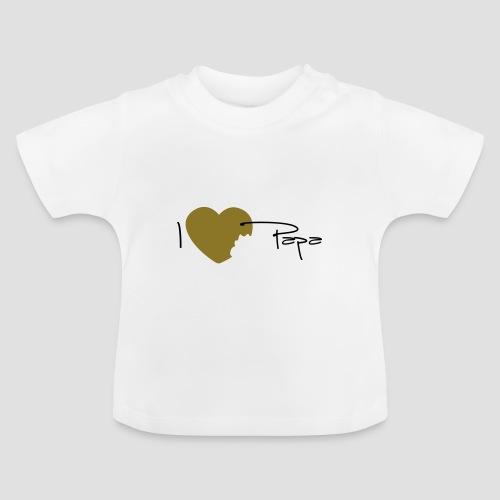 T-shirt Bébé I love papa - T-shirt Bébé