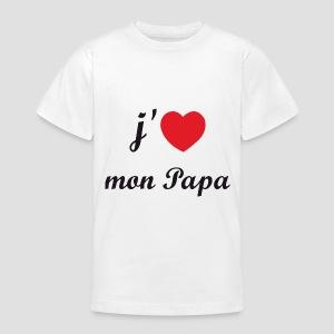 T-shirt classique Enfant I love papa - T-shirt Ado