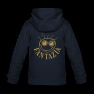 Hoodies ~ Kids' Premium Zip Hoodie ~ Fantazia Kids Hoodie with Gold glitter logos front and back