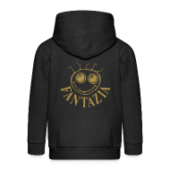 Hoodies ~ Kids' Premium Zip Hoodie ~ Fantazia Kids Hoodie with Gold glitter logos front and back