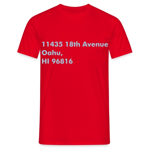 Address Series #4 (insp. by Magnum P.I.) - T-shirt Homme