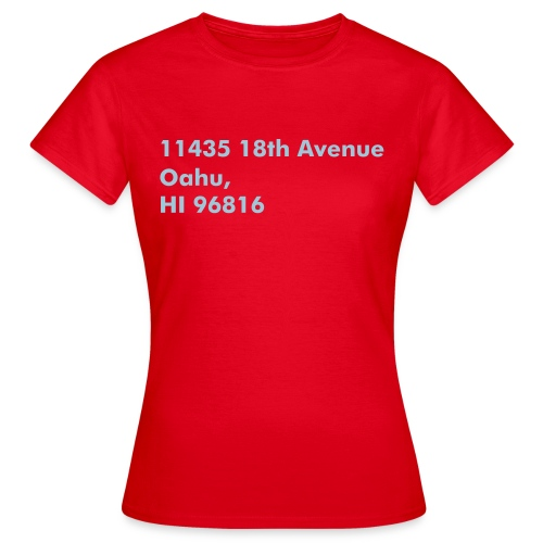 Address Series #4 (insp. by Magnum P.I.) - T-shirt Femme
