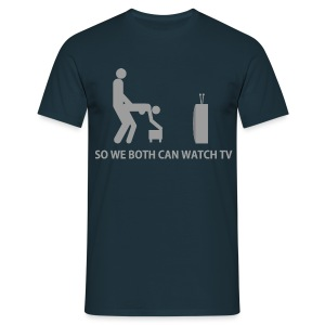 Adultfun! So we both can watch TV - Mannen T-shirt